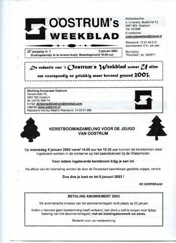 Oostrum's Weekblad 2003