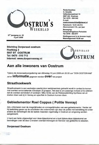 Oostrum's Weekblad 2008-06-05