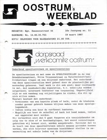 Oostrum's Weekblad 1987-03-19