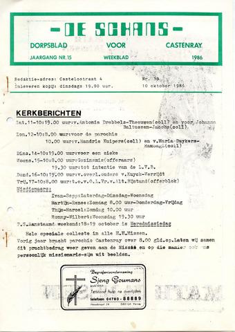 Castenrays dorpsblad De Schans 1986-10-10