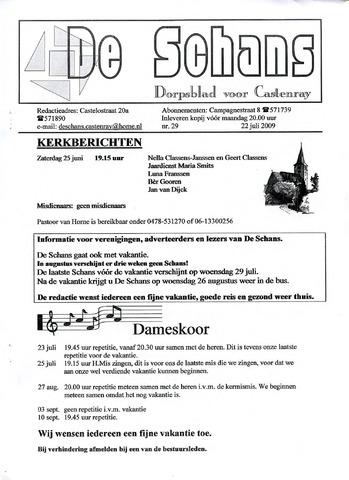 Castenrays dorpsblad De Schans 2009-07-22