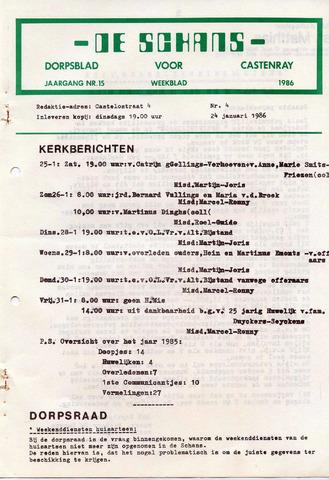 Castenrays dorpsblad De Schans 1986-01-24