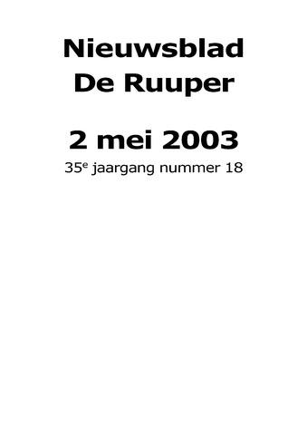 Dorpsblad Leunen-Veulen-Heide 2003-05-02