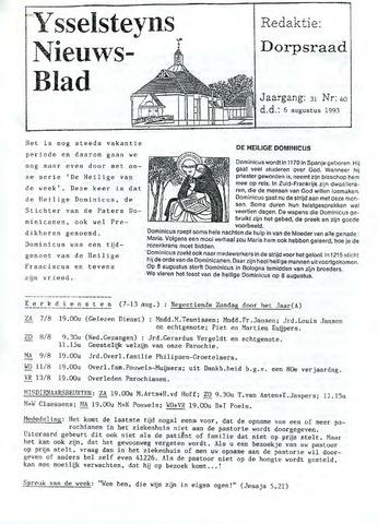 Ysselsteyns Nieuwsblad 1993-08-06