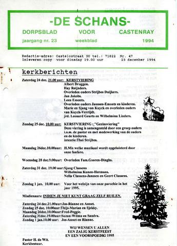 Castenrays dorpsblad De Schans 1994-12-23