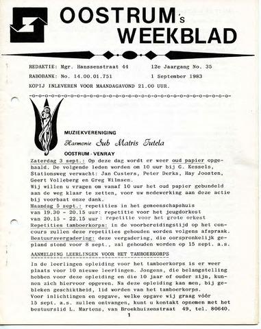 Oostrum's Weekblad 1983-09-01