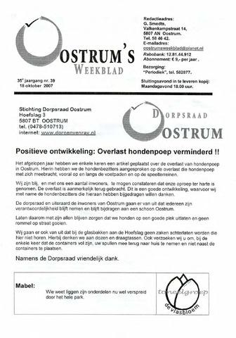 Oostrum's Weekblad 2007-10-18
