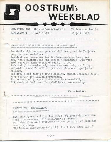 Oostrum's Weekblad 1978-06-15