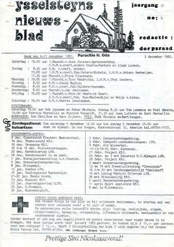 Ysselsteyns Nieuwsblad 1982-12-03