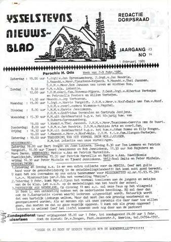 Ysselsteyns Nieuwsblad 1985-02-01