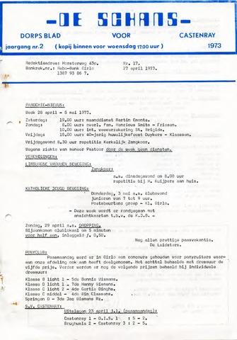 Castenrays dorpsblad De Schans 1973-04-27