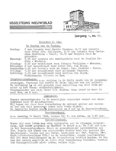 Ysselsteyns Nieuwsblad 1966-03-10