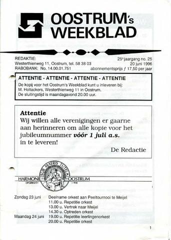 Oostrum's Weekblad 1996-06-20
