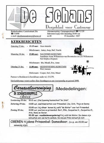 Castenrays dorpsblad De Schans 2007-12-19