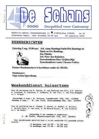 Castenrays dorpsblad De Schans 2000-08-03