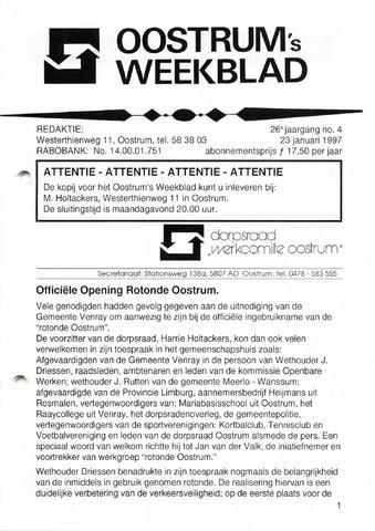 Oostrum's Weekblad 1997-01-23