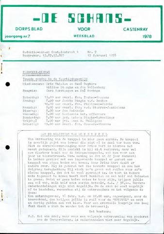 Castenrays dorpsblad De Schans 1978-02-17