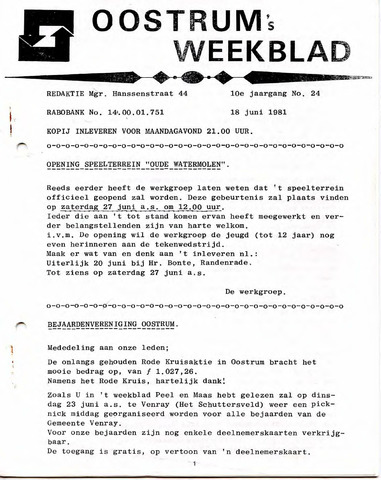 Oostrum's Weekblad 1981-06-18