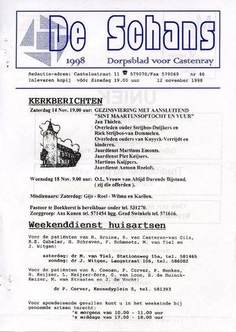 Castenrays dorpsblad De Schans 1998-11-12