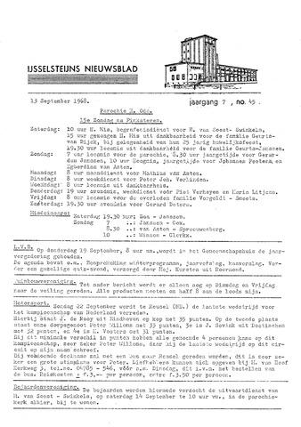 Ysselsteyns Nieuwsblad 1968-09-13
