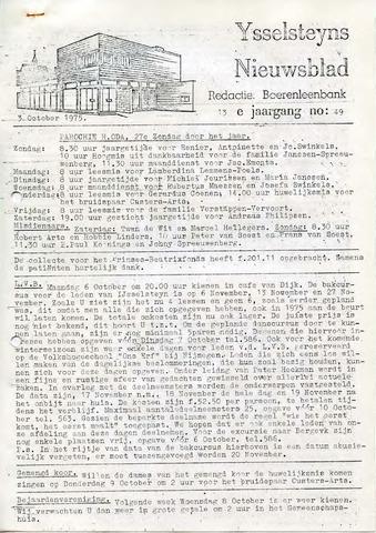 Ysselsteyns Nieuwsblad 1975-10-03