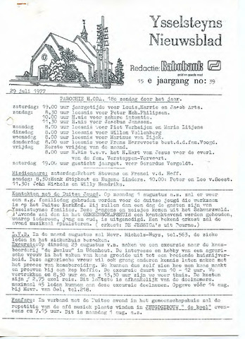 Ysselsteyns Nieuwsblad 1977-07-29