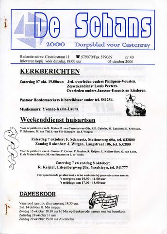 Castenrays dorpsblad De Schans 2000-10-05