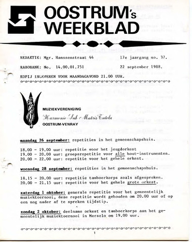 Oostrum's Weekblad 1988-09-22