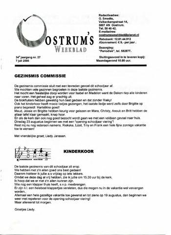 Oostrum's Weekblad 2005-07-07