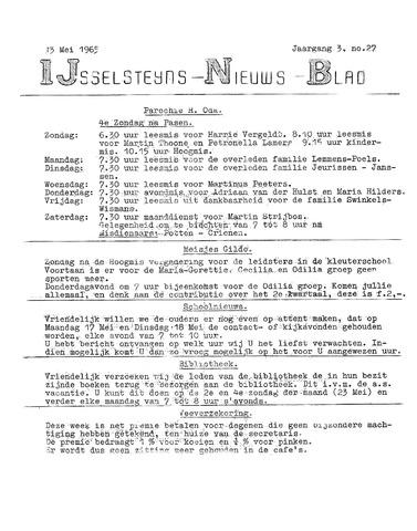 Ysselsteyns Nieuwsblad 1965-05-13