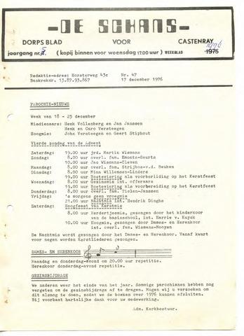 Castenrays dorpsblad De Schans 1976-12-17