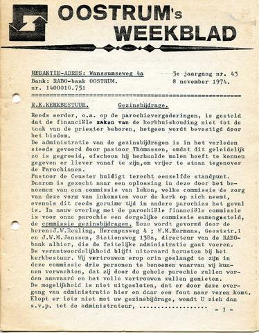 Oostrum's Weekblad 1974-11-08