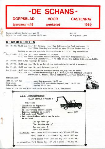 Castenrays dorpsblad De Schans 1989-08-25