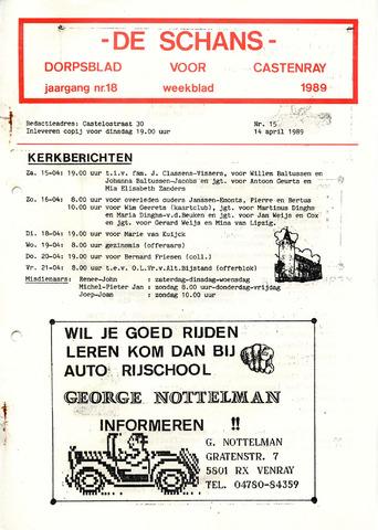 Castenrays dorpsblad De Schans 1989-04-14