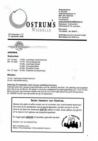 Oostrum's Weekblad 2006-09-21