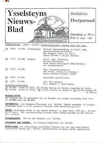 Ysselsteyns Nieuwsblad 1997-09-19