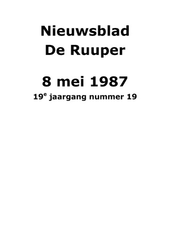 Dorpsblad Leunen-Veulen-Heide 1987-05-08