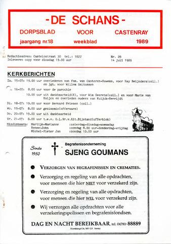 Castenrays dorpsblad De Schans 1989-07-14