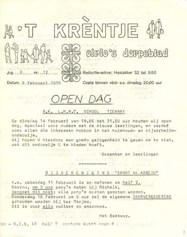 Oirlo's dorpsblad 't Krèntje 1978-02-09