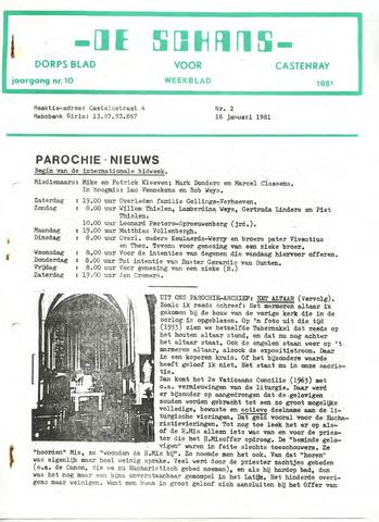 Castenrays dorpsblad De Schans 1981-01-16