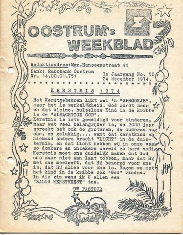 Oostrum's Weekblad 1974-12-24