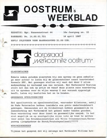Oostrum's Weekblad 1987-04-16