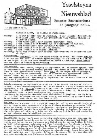 Ysselsteyns Nieuwsblad 1974-09-13