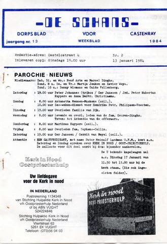 Castenrays dorpsblad De Schans 1984-01-13