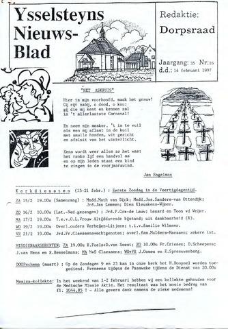 Ysselsteyns Nieuwsblad 1997-02-14