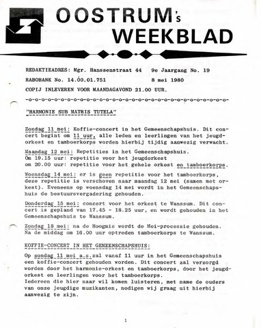 Oostrum's Weekblad 1980-05-08