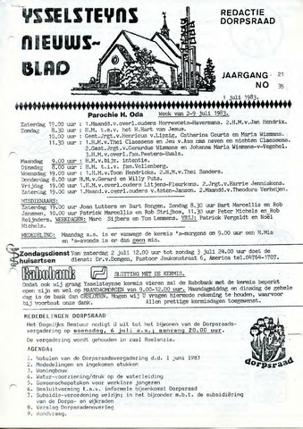 Ysselsteyns Nieuwsblad 1983-07-01