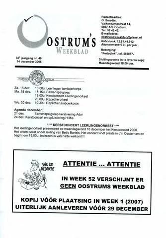 Oostrum's Weekblad 2006-12-14