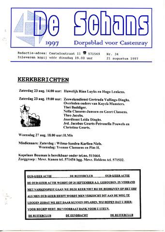 Castenrays dorpsblad De Schans 1997-08-21