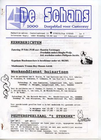 Castenrays dorpsblad De Schans 2000-02-17